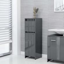 Badeværelsesskab 30x30x95 cm spånplade grå højglans