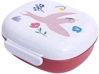 sebra Food Box with Divider Singing Birds