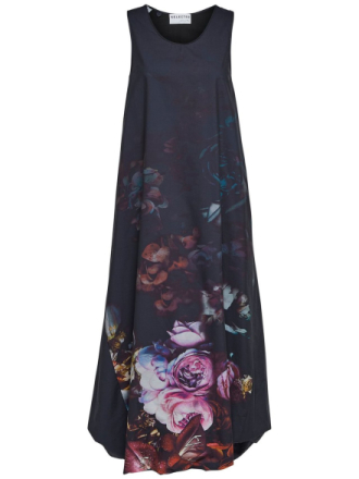 SELECTED The Perfect Flower Maxi Dress Women Blue