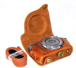 Canon PowerShot G9 X, S110 og S120 Foto Kamera Beskyttelses deksel laget av kunstlær - Brunt