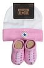 Converse Baby 2-er Geschenk-Set Mütze Söckchen pink