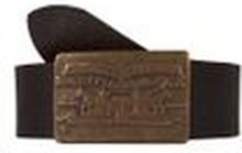 Levi's Herren Gürtel Echtleder Fort 2 Dark Brown (Braun)
