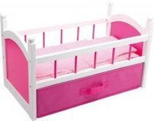 Puppenbett Pink