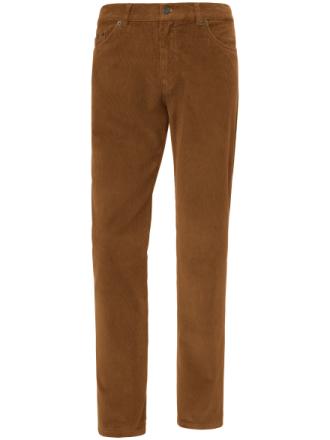 Fløjlsbuks, model Cooper Fancy Fra Brax Feel Good brun - Peter Hahn