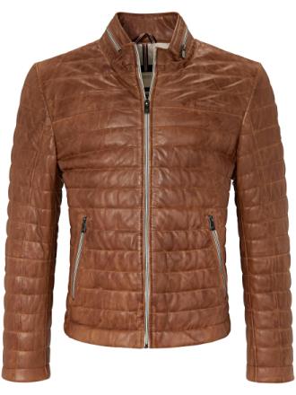 Quiltet skindblouson 100% skind Fra Milestone brun