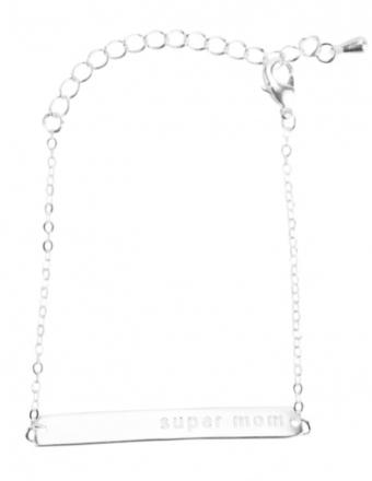 Supermom bracelet sølv