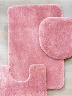 Badrumsmatta från Kleine Wolke rosa