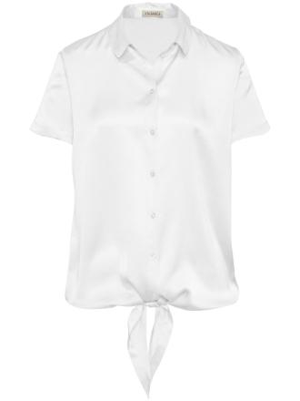 Bluse 100% silke Fra Uta Raasch hvid - Peter Hahn