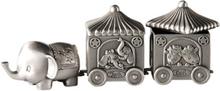 Dacapo Silver - Elefant Med 2 Vagnar För Tand&Lock