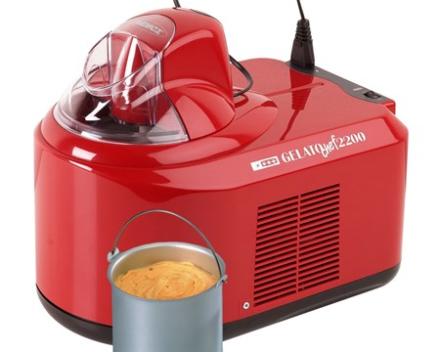 Nemox Gelato Chef 2200 ismaskine rød 1,5 liter