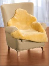 Lammfell, ca. 145x70cm Kaiser gelb