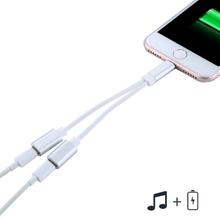 Dual Lataus / Mic / headset adapteri iPhone 8 / 7