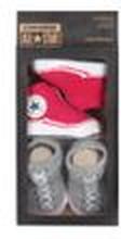Converse Baby 2-er Geschenk-Set Socken rot-grau
