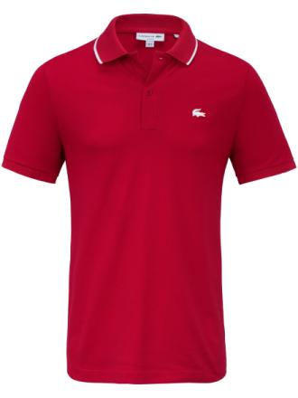 Poloshirt kort knapstolpe Fra Lacoste rød - Peter Hahn