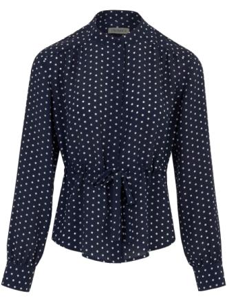 Skjorte i 100% silke Fra Uta Raasch blå - Peter Hahn