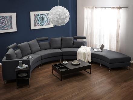 Sektionsopdelt sofa - sofa - polstring - mørkegrå - Rotunde