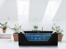 Badekar med massage Sort Samana