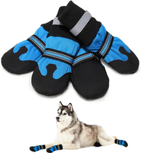 Große Hundeschuhe Stiefel Booties für Schnee Winter Wasserdicht Reflektierende Anti-Rutsch