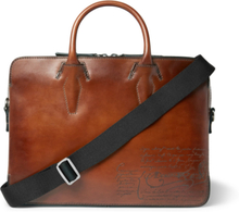 Profile Mini Scritto Leather Briefcase - Tan