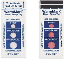 Temperaturindikatoren WarmMark mit Auslösung ab 8°C