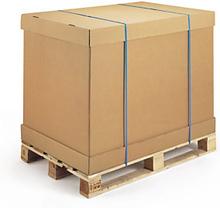 Braunes Wellpapp-Container-Element 2-wellig 775 x 590 x 900 mm