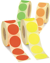Fluoreszierende Markierungspunkte 40 mm, gelb