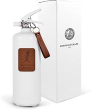 Brandsläckare 2 kg Vit/Läder Ljusbrun