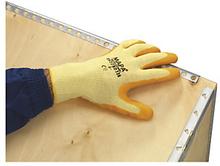 Gestrickte Handschuhe mit Latexbeschichtung Größe 10