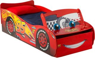 Lynet McQueen juniorseng m lys og madras - Disney Cars Børnemøbler 663042