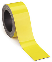 Magnetische Etiketten auf der Rolle, gelb 5 m x 90 mm