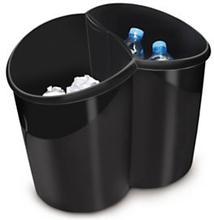 Mülleimer ineinander einhängbar schwarz