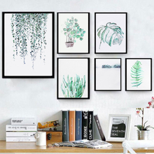 Tropische Pflanzen Blätter Leinwand Vintage Poster Wandmalerei Kunstdrucke Modern Home Decor