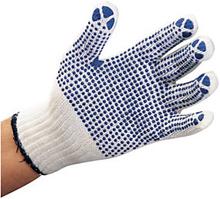 Gestrickte Handschuhe mit Noppen and Handteller und -rücken, Gr.9