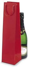Lack Tasche für eine Flasche rot
