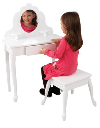 Sminkbord och pall - Kidkraft Barnmöbler 13009