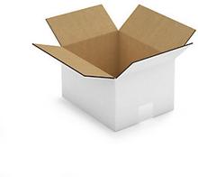 2-welliger Wellpapp-Faltkarton weiß, 250 x 200 x 150 mm