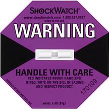 Shockwatch Stoßindikator violett (große Packstücke bis 112 kg)