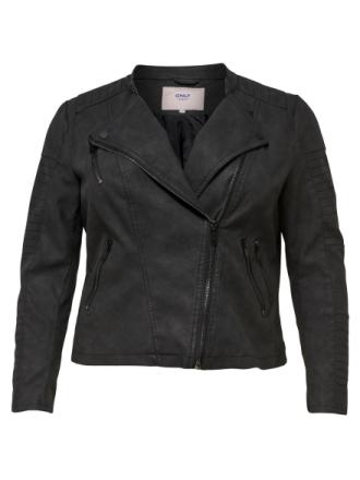 ONLY Curvy Biker Jacket Women Black