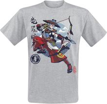Overwatch - Hanzo - Kabuki -T-skjorte - gråmelert