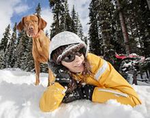 Schneeschuh-Tour mit dem eigenen Hund