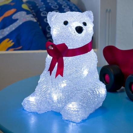 LEd-dekolampe Isbjørn, batteridrevet