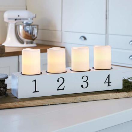 LED-lysestage Amund, 4 lyskilder