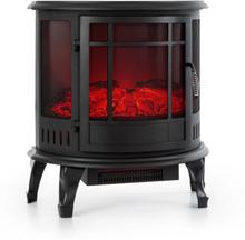 Megève Elektrisk kamin 1850W LED-eld termostat dimbar svart
