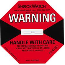 Shockwatch Stoßindikator rot (kleine Packstücke bis 112 kg oder große bis 22 kg)