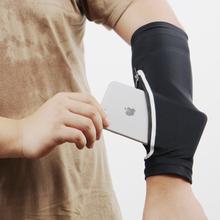 Mens Solid Color Flexible Sonnencreme Laufen Reiten Fitness Lang Manschette Armschutz Mobile Arm Pack