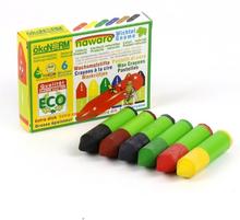 Ekologiska Vaxkritor för de minsta, 6 st färger
