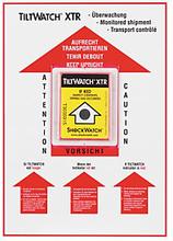 Positionierungsetikett für Tiltwatch Kippindikator