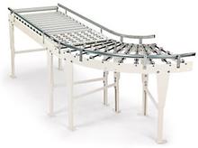 Rollenbahn gerade mit Kunststoffrollen, Breite 40 cm, Länge 150 cm