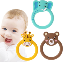 Free Shipping Cute Baby Pacifier Teethers Cartoon Teething Nursing Silicone Necklace Toys Hot Selling