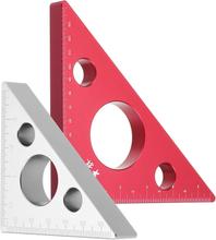 90 Grad Aluminiumlegierung Höhenlehre Metric Zoll Holzbearbeitung Dreieckslineal